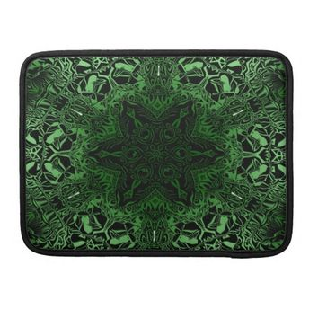 Green Kaleidoscope Sleeves For MacBook Pro