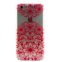Clear Red Floral Filigree iPhone 6 Case