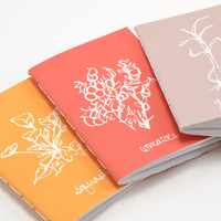 Small Handmade Journal Set: Sprouted Collection