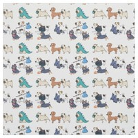 fabric Trendy cool cute puppy dogs