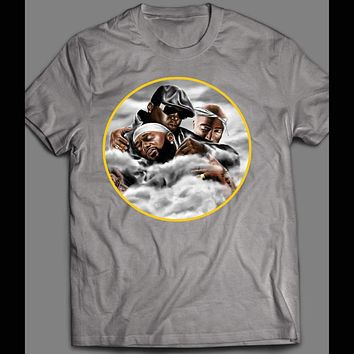 WELCOME TO HEAVEN NIPSEY HUSSLE WITH TUPAC AND BIGGIE CUSTOM ART T-SHIRT