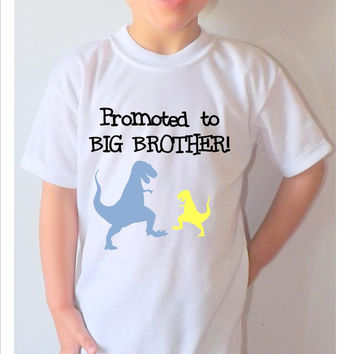 """Personalized,Cute boys  shirt  short sleeves  Promoted to Big Brother"""""""