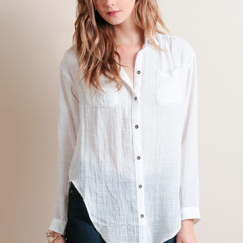 City Calling Button-Up Blouse