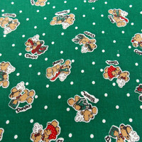 Reindeer Fabric Holiday Fabric Christmas Fabric Rudolph the Reindeer Blitzen Cotton Fabric Quilting Fabric