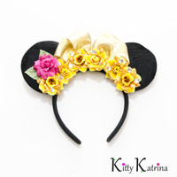Belle Mouse Ears Inspired Headband, Belle Dress, Beauty and the Beast Dress, Beauty and the Beast Party, Princess Belle, Disney Headband