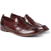 Officine Creative - Anatomia High-Shine Leather Penny Loafers | MR PORTER