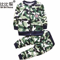 winter Kids Clothes Camouflage Thicker Baby Boys Clothing Set Toddler Boy Clothing Boutique Children Kids girls Costume suit