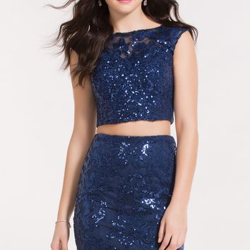 Alyce 4465 Two Piece Dress with Lace Top
