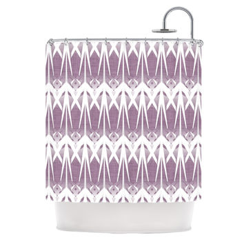 "Alison Coxon ""Arrow Lavender"" Shower Curtain"
