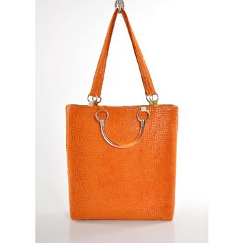 Orange Boa Large Tote Bag
