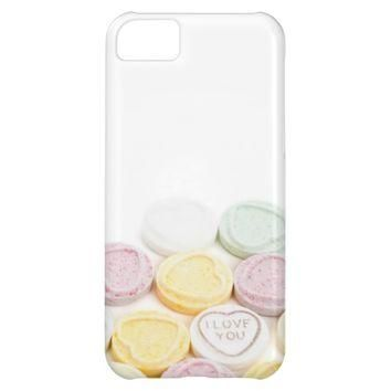 Conversation hearts candy I Love You foodie photo Cover For iPhone 5C