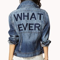Whatever Distressed Denim Jacket