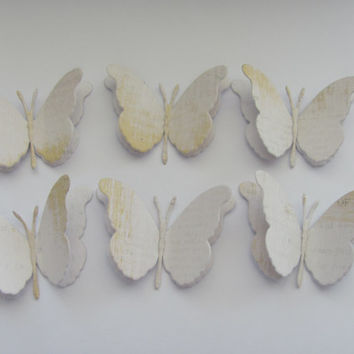 Handmade Layered Butterflies set of 6