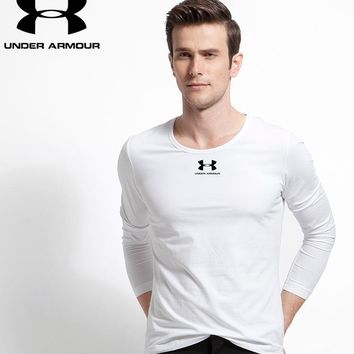 Hot Under Armour Mens Long Sleeve Hoodie 100% COTTON TOP