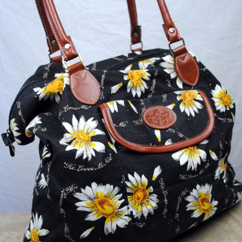 Vintage 90s Daisy Tote Bag