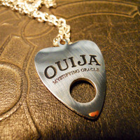 Ouija Board Planchette Mystifying Oracle Talisman Necklace Witch Board