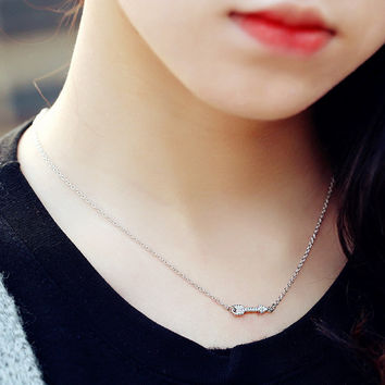 Jewelry New Arrival Gift Shiny 925 Silver Korean Stylish Simple Design Accessory Necklace [7587127047]