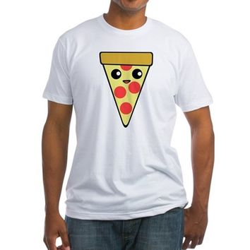 Pizza Slice Fitted T-Shirt