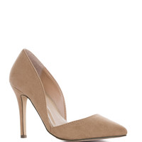 Electric Love Pumps in Taupe