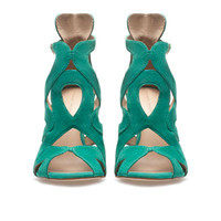 STRAPPY HIGH-HEEL SANDALS - Shoes - Woman - ZARA United States