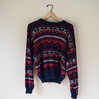 Vintage 90s Unique Retro Style Cosby Sweater Grunge