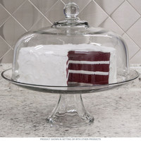Domed 2-In-1 Punch Bowl Cake Stand Kitchen Tabletop