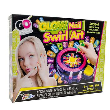 Go Girl Glow Nail Swirl Art Kit by Grafix