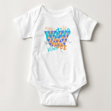 Funky Positive Vibes Baby Bodysuit