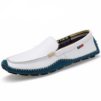 Leather Shoes Soft Moccasins Fashion Flats Comfy Casual Driving Boat