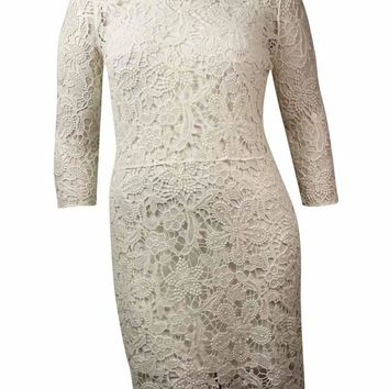 Lauren Ralph Lauren Women's Cotton Floral Lace Dress