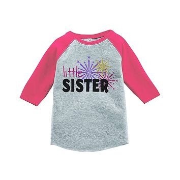 Custom Party Shop Kids Little Sister Happy New Year Raglan Shirt
