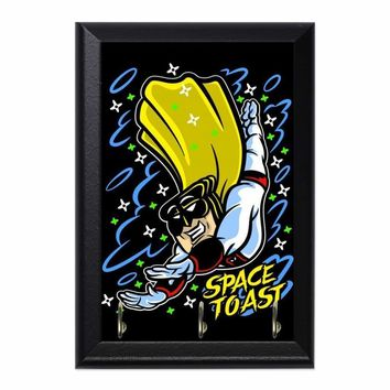 Space Toast Decorative Wall Plaque Key Holder Hanger