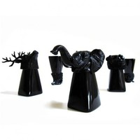 Black Animal Shot Glass - Kitchen & Dining - Home & Office - Yanko Design