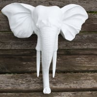 Wall Mount Elephant Head / Faux Taxidermy / Wall by 2CountryChics