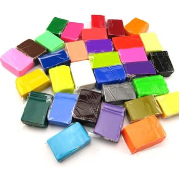 32 Colos Polymer Clay Blocks With 3 Tools Kids DIY Handwork Handcraft Modeling Toy Soft Fimo Playdough Educational Toy
