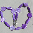 """Purple Mother of Pearl Necklace """"Mallow"""" Special Offer Price"""