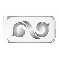 INFINITE SILVER FINISH MONEY CLIP