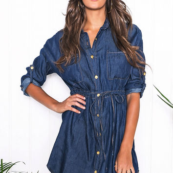Roselle Denim Shift Dress