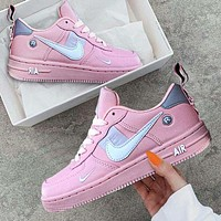 NIKE AIR FORCE 1 DUMR New fashion hook couple shoes Pink