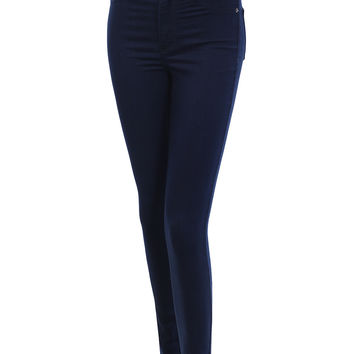 LE3NO Womens Premium Fitted High Waisted Skinny Jean Pants With Stretch