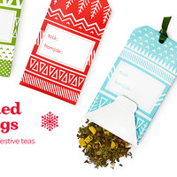 Tea-Filled Gift Tags - Gift Tags Containing Bags Of Limited Edition Winter Blends | DavidsTea