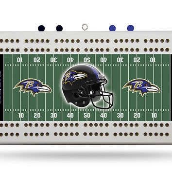 BALTIMORE RAVENS FIELD CRIBBAGE BOARD