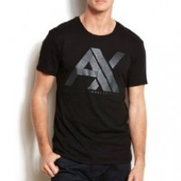 Armani Exchange Mens Abstract Logo Tee:Amazon:Clothing