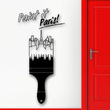 Wall Sticker Vinyl Decal Painting Paris France Europe Travel Decor Unique Gift (ig2167)