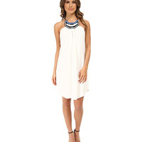 Tbags Los Angeles Beaded Neck Halter Dress White - Zappos.com Free Shipping BOTH Ways