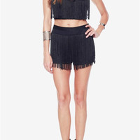RiRi Mesh & Fringe Crop Top