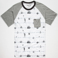 Hurley Nautical Mens Pocket Tee White  In Sizes