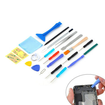 2016 new hot sale 22 in 1 Open Pry mobile phone Repair Screwdrivers Sucker hand Tools set Kit For Cell Phone Tablet Brand New