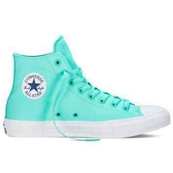 neon teal hi top chuck taylor all star ii by converse