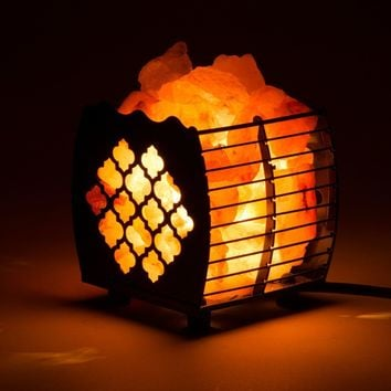 Moroccan Trellis Healthy Himalayan Salt Lamp LIght